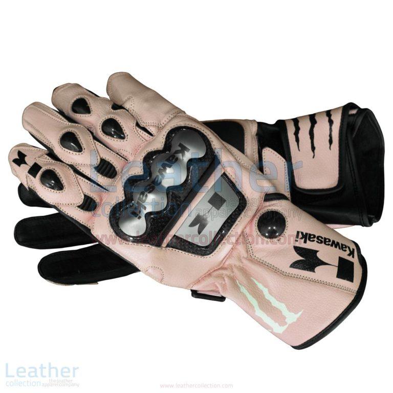 Kawasaki Monster Leather Gloves –  Gloves