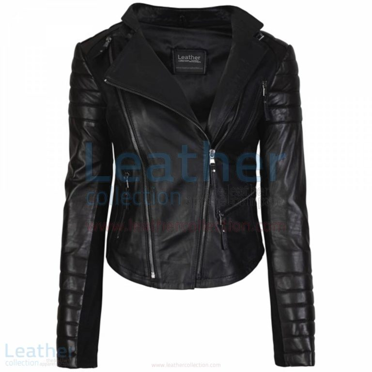 Kelly Fashion Ladies Leather Motorcycle Jacket Black –  Jacket