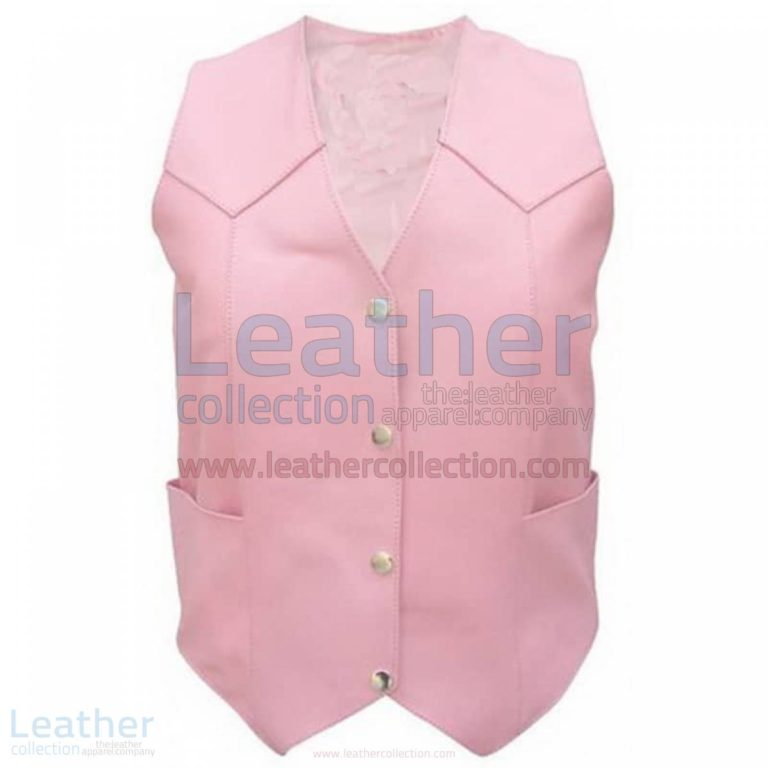 Ladies Pink Basic Plain Vest –  Vest