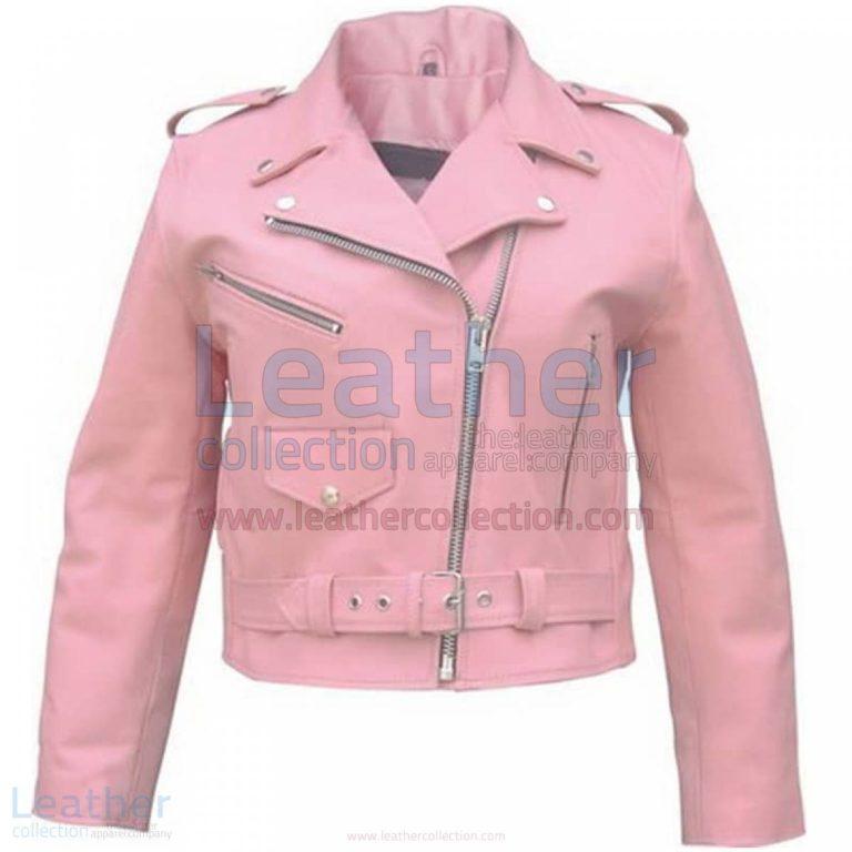 Ladies Pink Girls Motorcycle Jacket –  Jacket