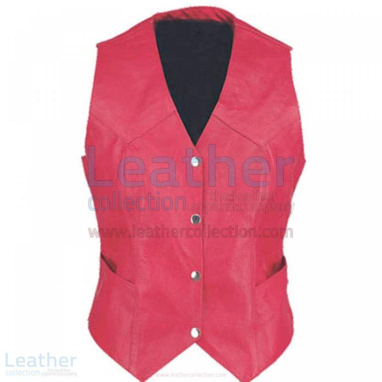 Ladies Vintage Fashion Leather Vest –  Vest