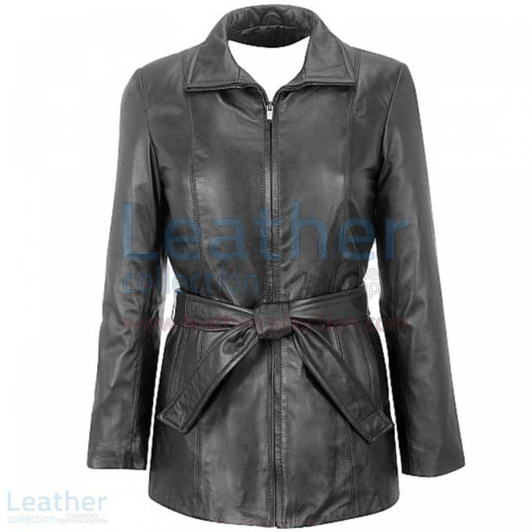 Lambskin Belted Hipster Coat –  Coat