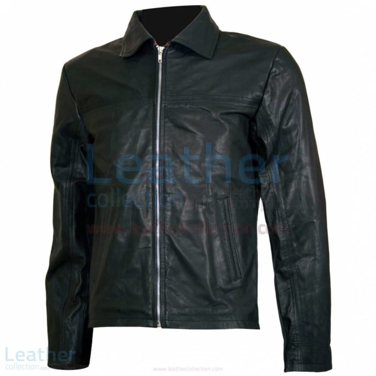 Layer Cake Biker Style Leather Jacket Mens –  Jacket
