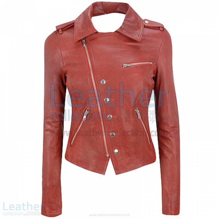 Cutaway Asymmetrical Leather Jacket Womens –  Jacket