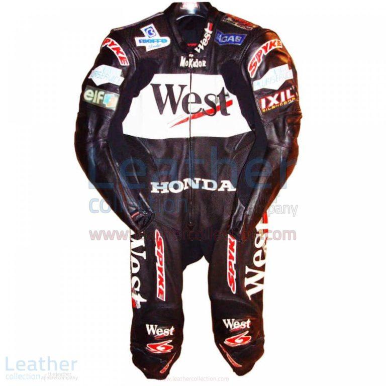 Loris Capirossi Honda GP 2001 Motorcycle Leathers – Honda Suit