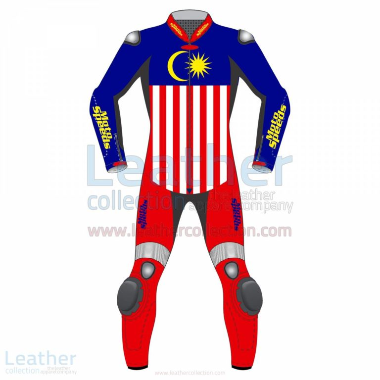 Malaysia Flag Leather Motorbike Suit –  Suit