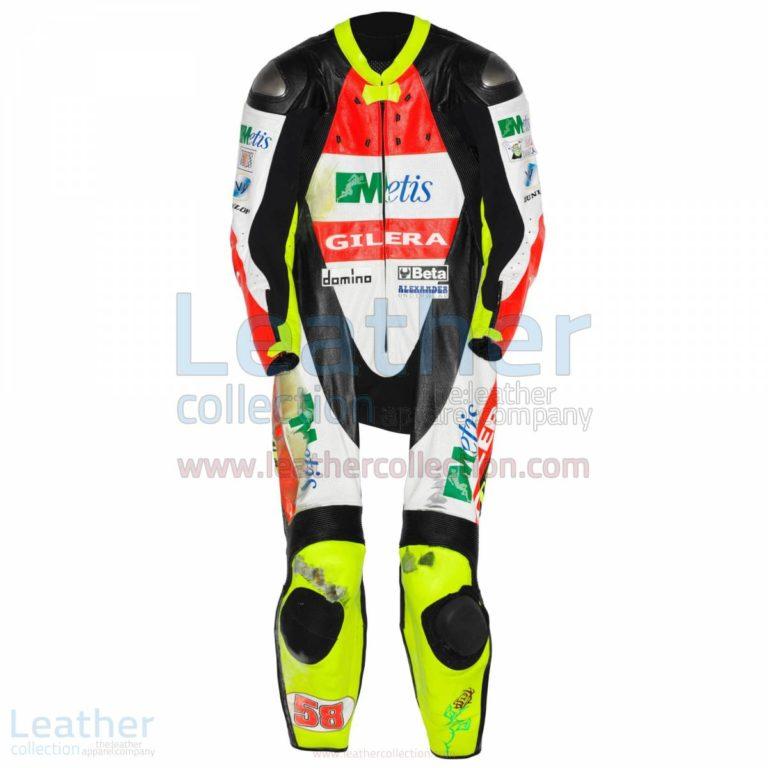 Marco Simoncelli Gilera GP 2007 Leather Suit – Gilera Suit