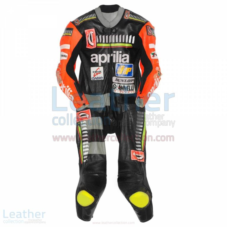 Max Biaggi Aprilia GP 1995 Racing Leathers – Aprilia Suit