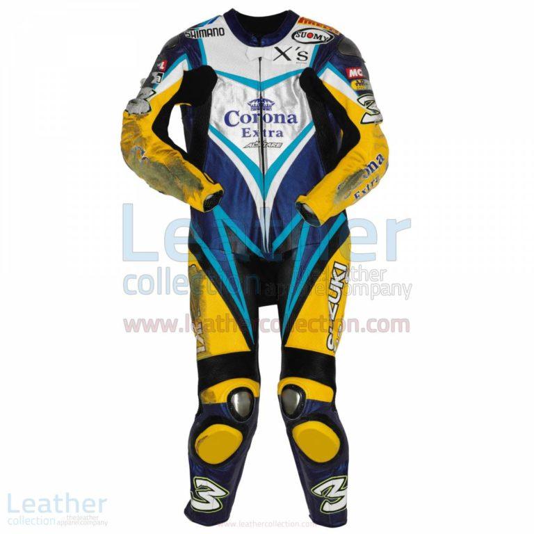 Max Biaggi Suzuki WSBK 2007 Leathers – Suzuki Suit