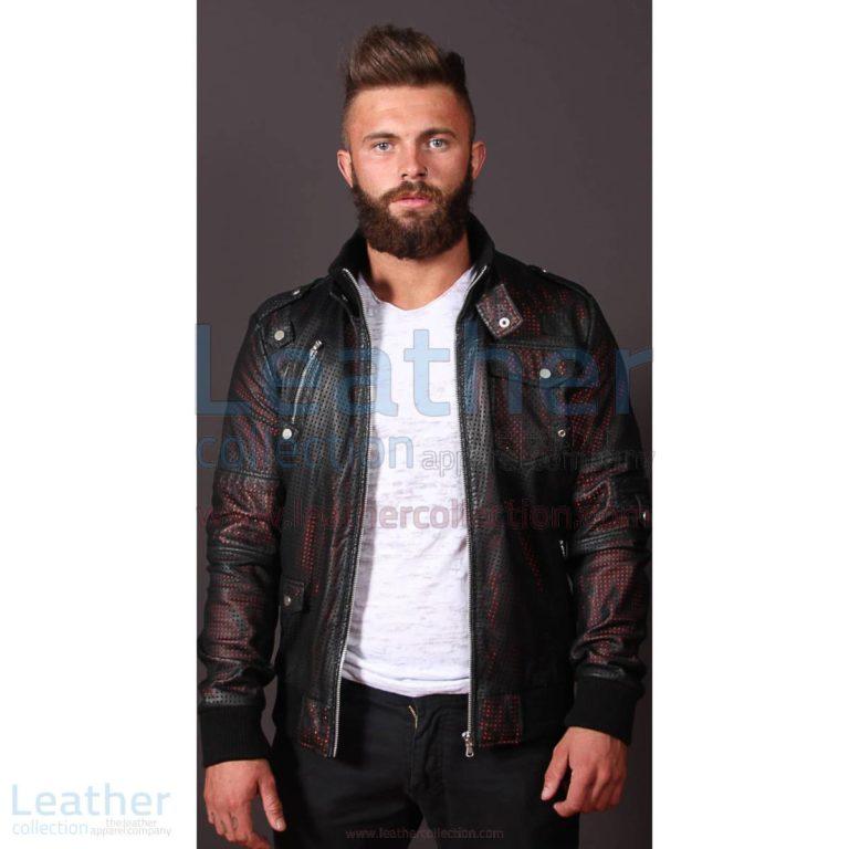 Men Devil Perforated Bomber Jacket –  Jacket