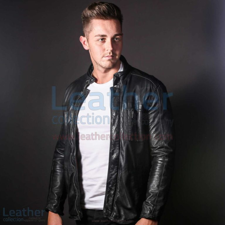 Men Fashion Ice Leather jacket –  Jacket