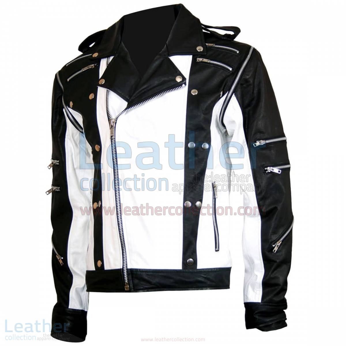 white leather jacket