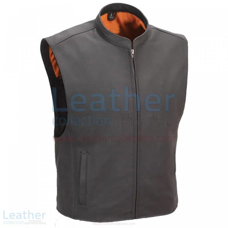 Motorcycle Club Vest with Seamless Back –  Vest