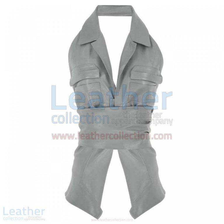 Naked Belted Fashion Leather Vest –  Vest