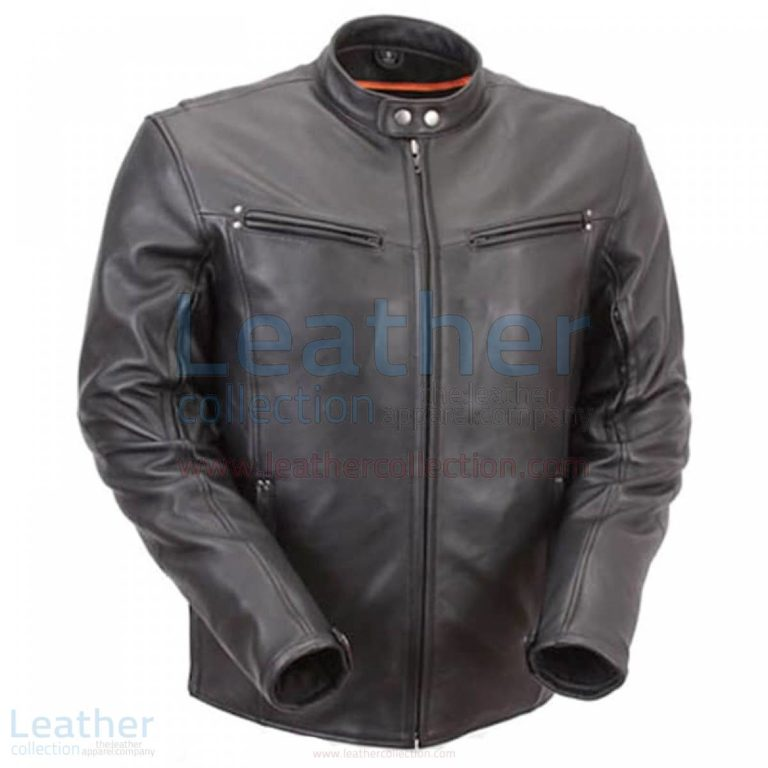 Premium Leather Rider Jacket with Multiple Vents –  Jacket