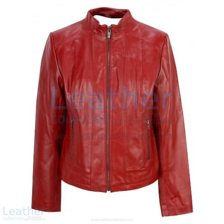 Red Fashion Jacket of Leather –  Jacket