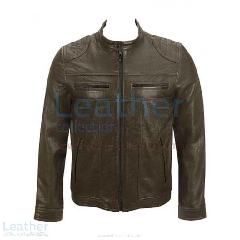 Saddle Shoulder Antique Leather Jacket –  Jacket