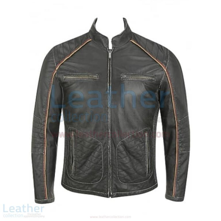 Semi Motorbike Casual Leather Piping Jacket –  Jacket