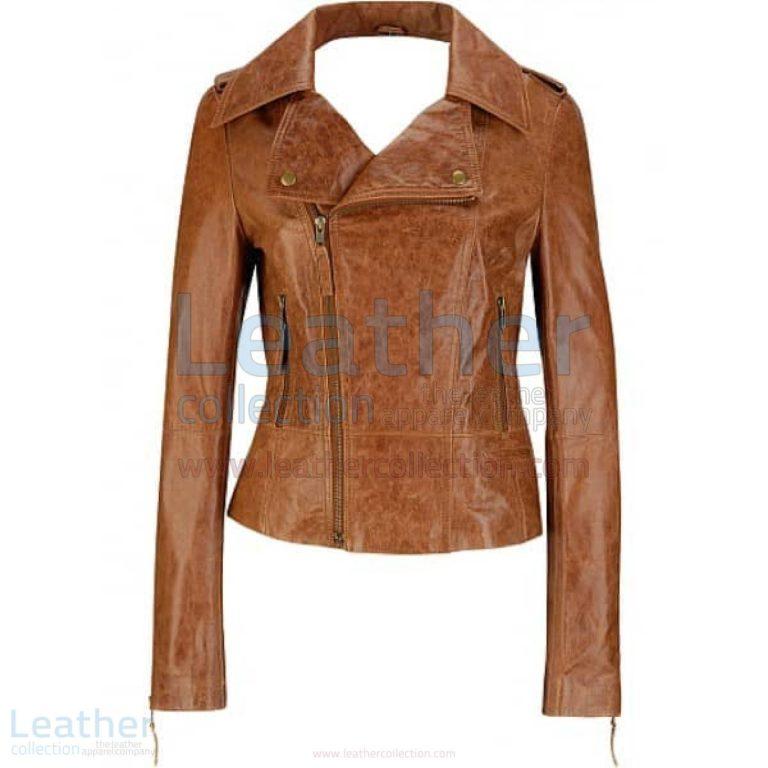 Short Body Distressed Leather Jacket –  Jacket