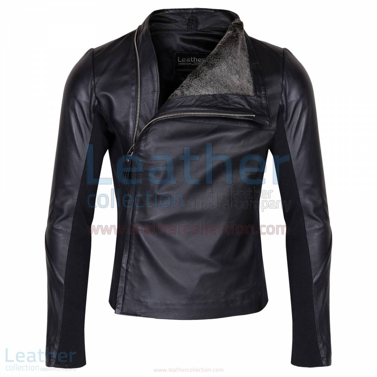 Slim & Smart Leather Jacket with Fur Lining –  Jacket