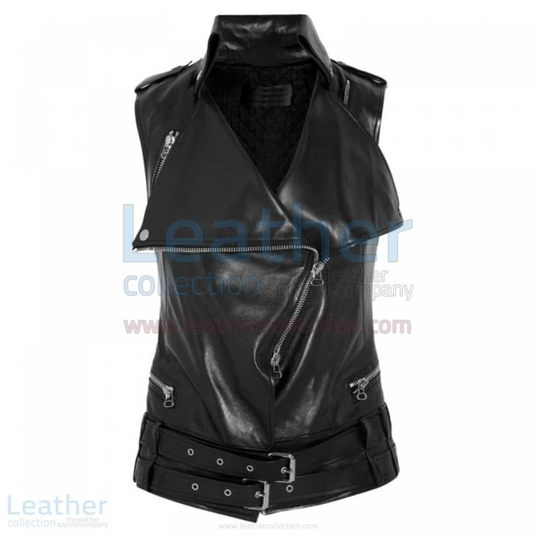 Smart Ladies Leather Vest –  Vest