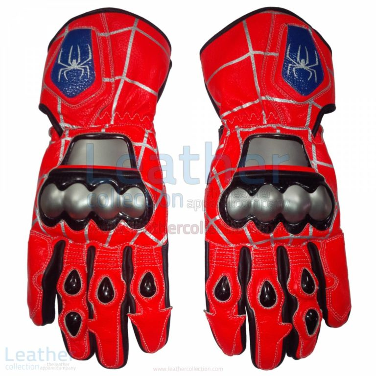 Spiderman Leather Motorbike Race Gloves –  Gloves