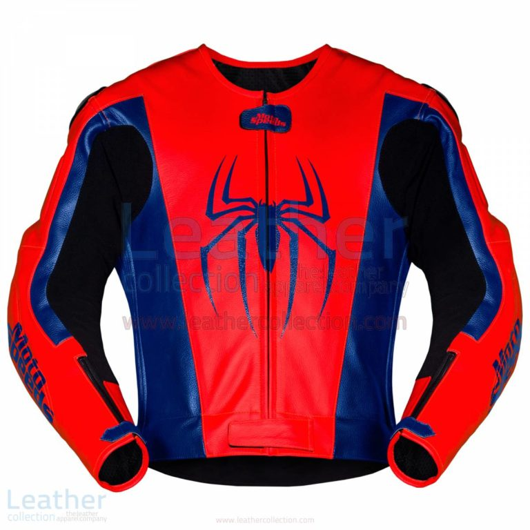 Spiderman Leather Motorcycle Jacket –  Jacket