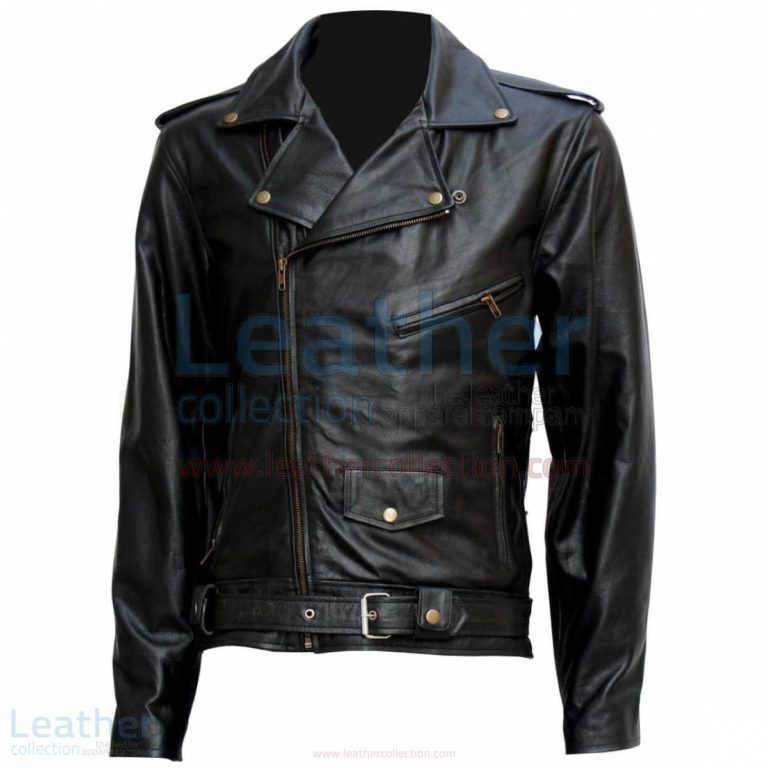 "Terminator "" Arnold "" Biker Leather Jacket –  Jacket"