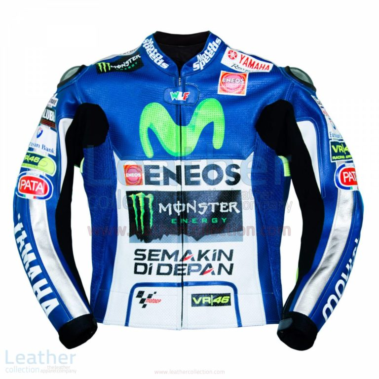 Valentino Rossi Movistar Yamaha 2015 MotoGP Leather Jacket – Yamaha Jacket