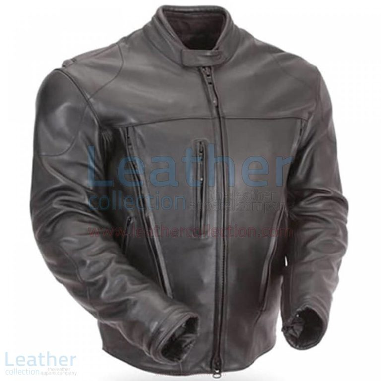 Waterproof Armored Leather Motorcycle Jacket with CE Armor –  Jacket