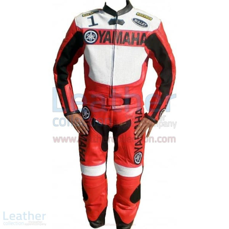 Yamaha Motorbike Leather Suit Red / White – Yamaha Suit
