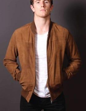 mens leather bomber jacket