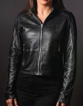 Leather shirt womens