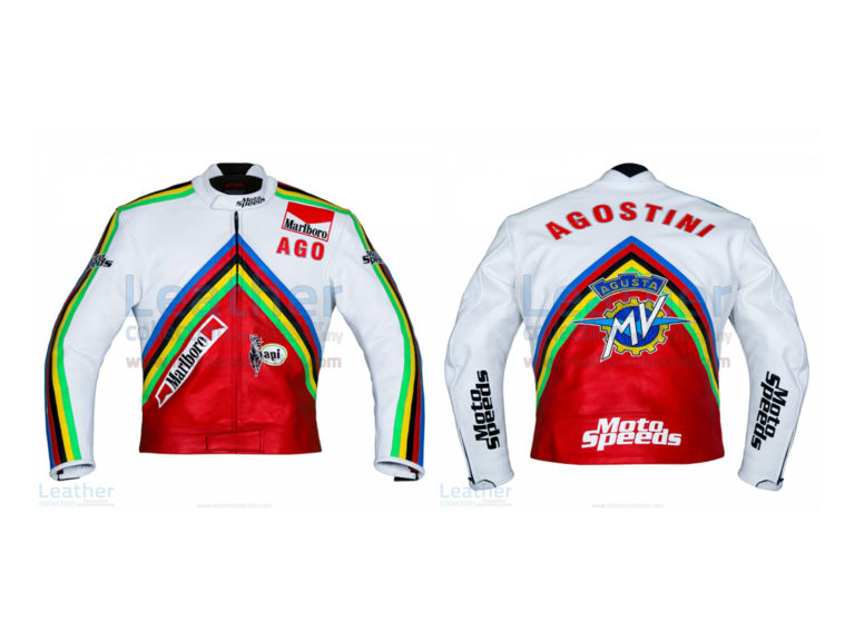 GIACOMO AGOSTINI MV AGUSTA GP 1975 LEATHER JACKET