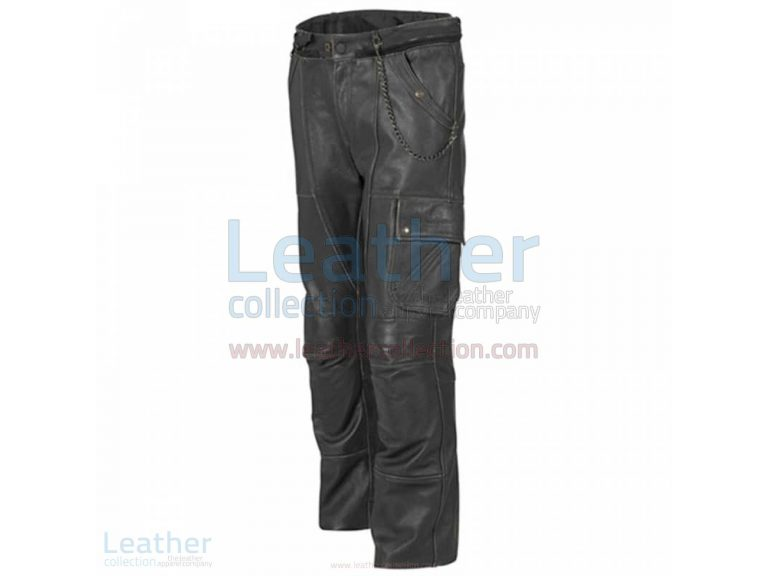 CLASSIC LEATHER MOTORCYCLE TROUSERS