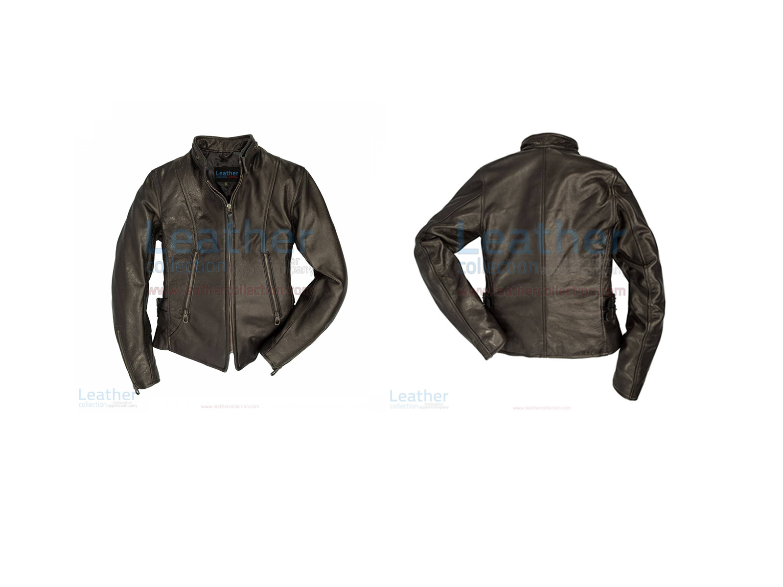 WOMENS CAFE RACER LEATHER JACKET