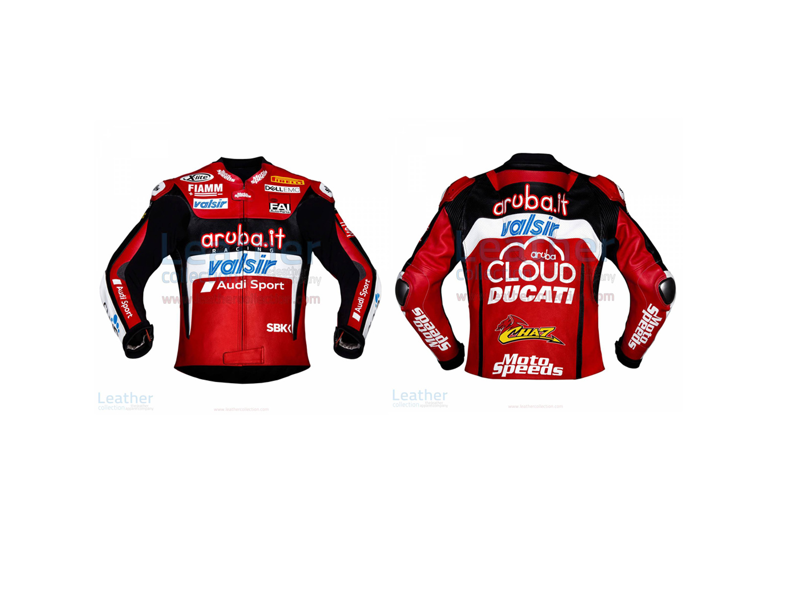 Chaz Davies Ducati Leather Jacket 2018 WSBK