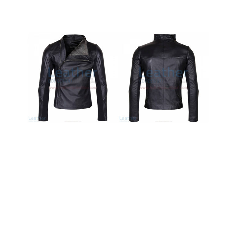 SLIM & SMART LEATHER JACKET WITH FUR LINING
