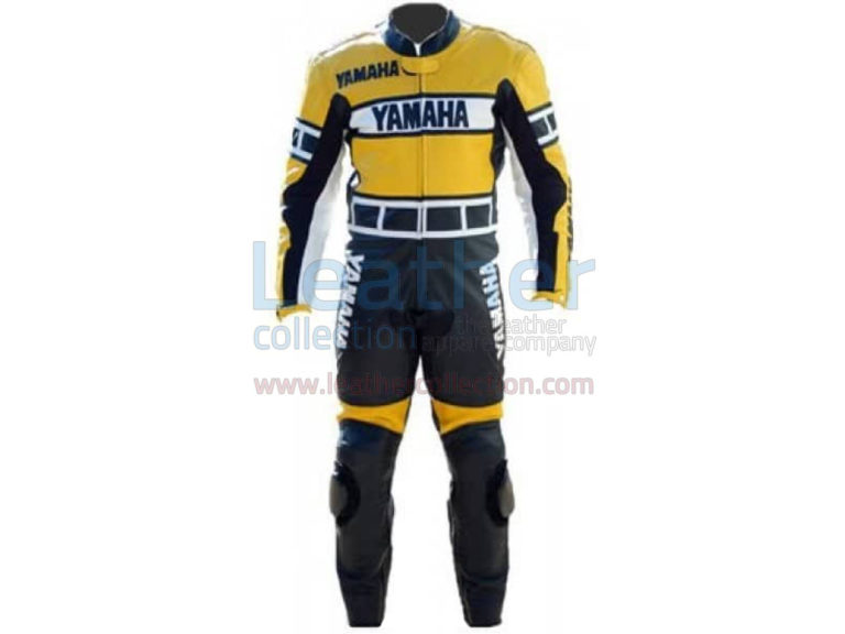 Yamaha Racing Leather Suit Yellow