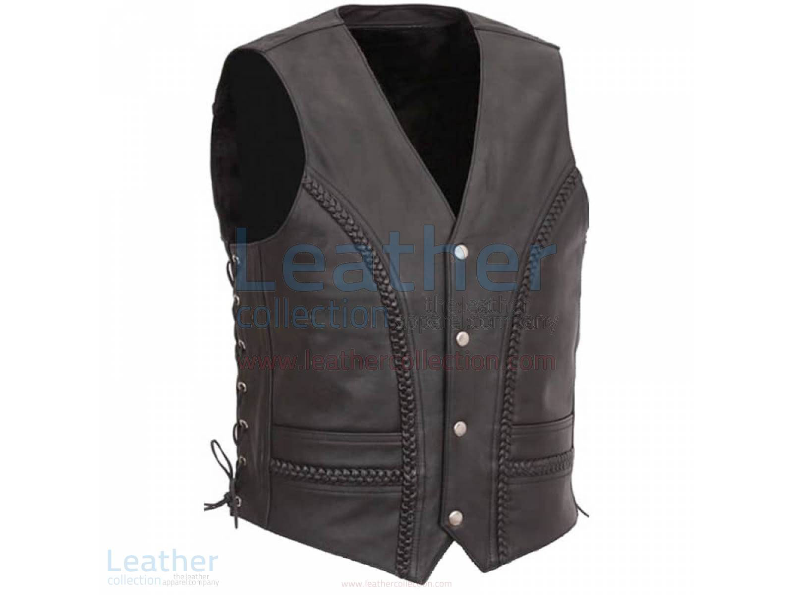 Side Lace & Braided Details Vest