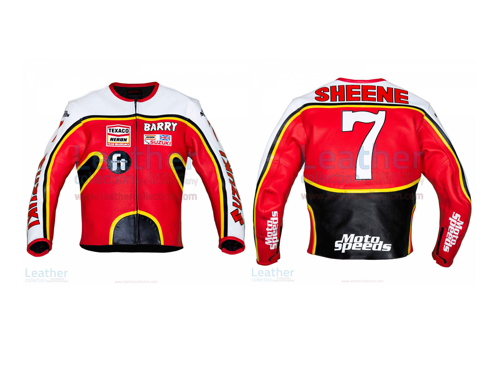 Barry Sheene Suzuki GP 1976 Leather Jacket