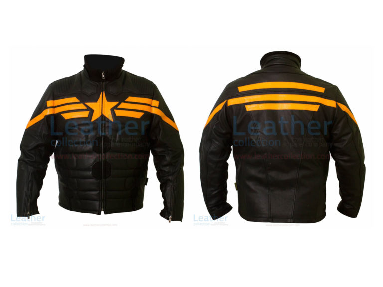 Captain America Black Biker Leather Jacket