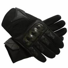 BLACK SHORT MOTORCYCLE GLOVES USA STYLE