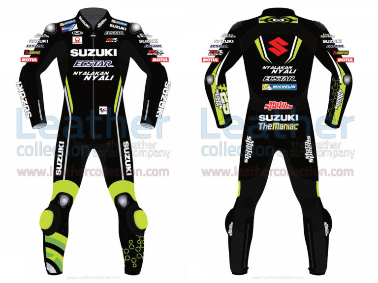 Andrea Iannone Suzuki MotoGP 2018 Leather Suit Black