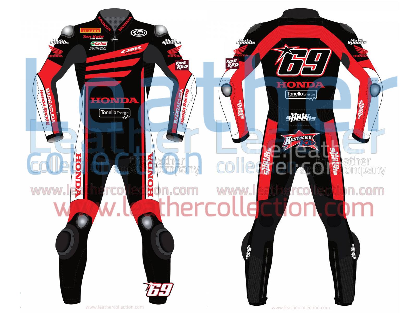 Nicky Hayden WSBK Winter Test Honda 2015 Motorcycle Suit