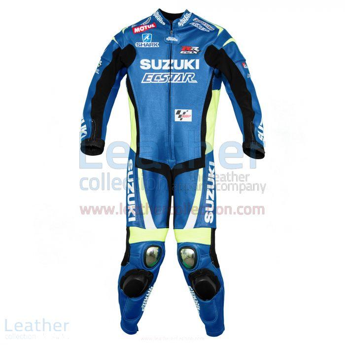 Aleix Espargaro Suzuki Cuirs 2015 MotoGP Vue de Face