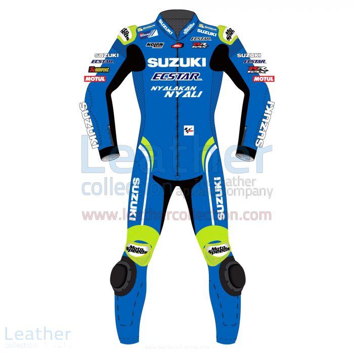 Alex Rins MotoGP 2018 Costume en Cuir suzuki Vue de Face