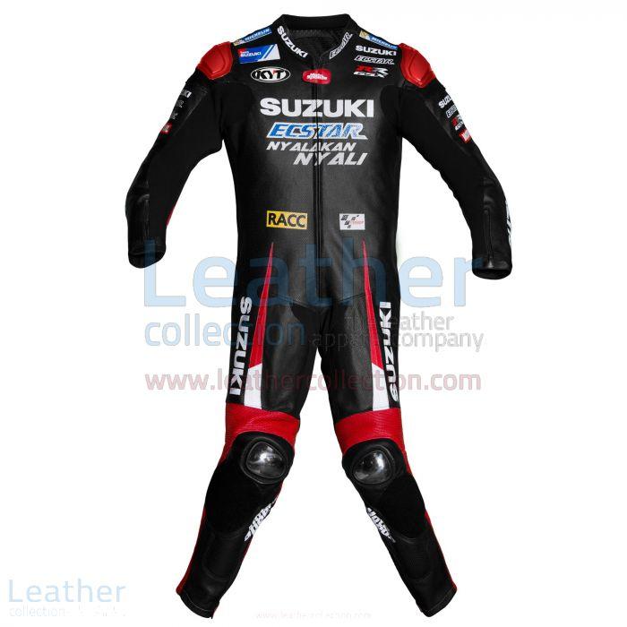 Aleix Espargaro Suzuki MotoGP 2016 Leather Suit front view