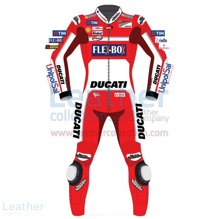 Andrea Dovizioso Ducati MotoGP 2017 Leather Suit front view