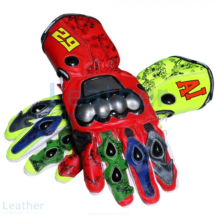 Andrea Iannone 2013 Leather Motorbike Gloves